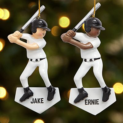 Baseball Player Ornament