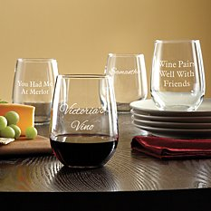 Create Your Own Stemless Wine Glass