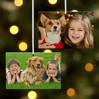 Kids Photo Rectangle Ornament