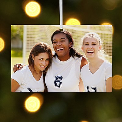 Sports Photo Rectangle Bauble