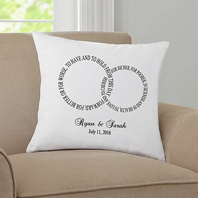 Rings of Love Throw Pillow