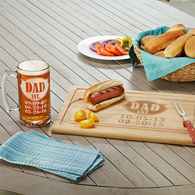 Dad Established Wood Cutting Board