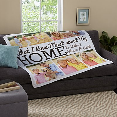 Heart Of the Home Plush Photo Blanket