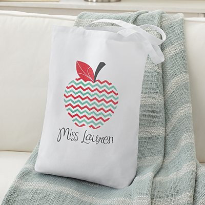 Chevron Apple Tote Bag