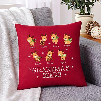 Little Deers Throw Pillow