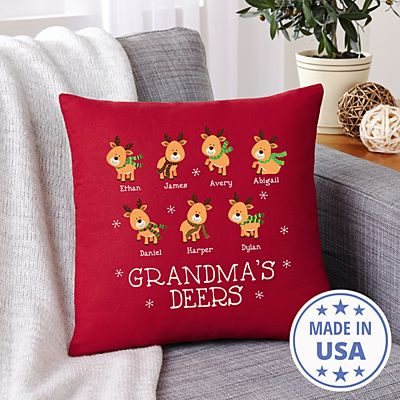 Little Deers Throw Pillow