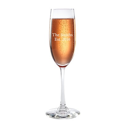Create Your Own Champagne Flute - Message -  Block