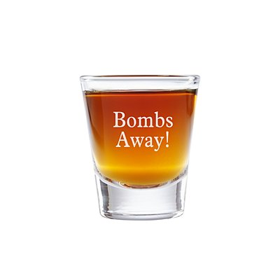 Create Your Own Shot Glass - Message - Block