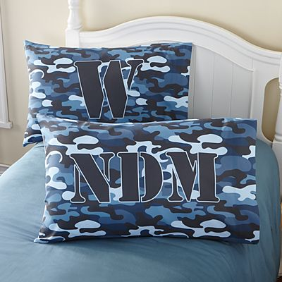 Blue Camo Pillowcase