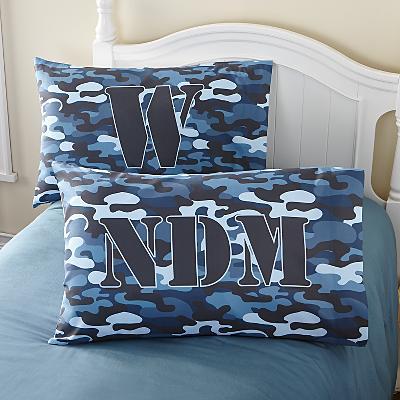 Blue Camo Pillowcase
