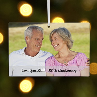 Milestone Photo Message Rectangle Ornament