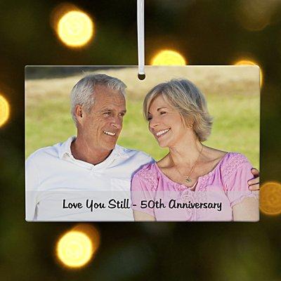Milestone Photo Message Rectangle Ornament