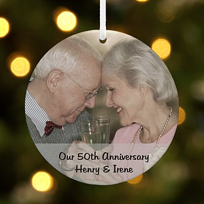 Picture Perfect Milestone Photo Message Round Ornament