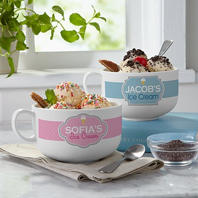 Ice Cream Shoppe Bowl & Topping Set