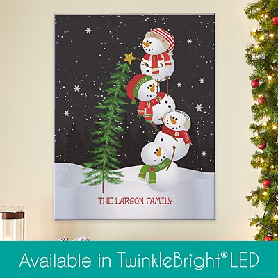 Lovable Snowman Canvas