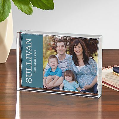 Photo Message Glass Block