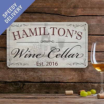 Wine Cellar Metal Sign