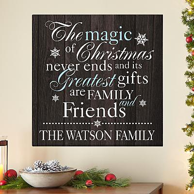 The Magic of Christmas Canvas
