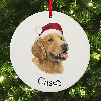 Golden Retriever Round Bauble