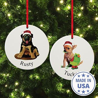 Dog Breed Puppy Round Ornament