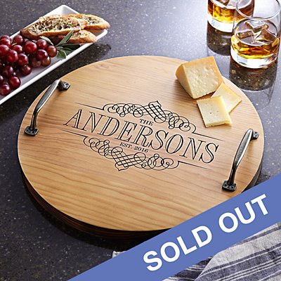 Decorative Family Name Wooden Tray