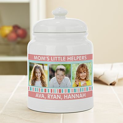 Family Fun Photo Cookie Jar
