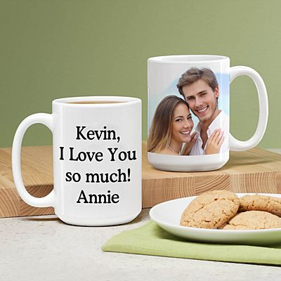 Picture Perfect Photo Mug with Message-15 oz.