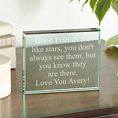 Any Message Glass Block