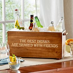 Any Message Wood Beverage Chiller