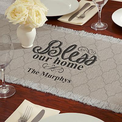 Bless Our Home Table Runner