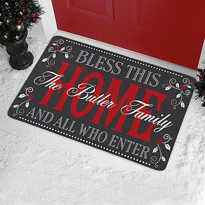 Christmas Bless The Home Doormat