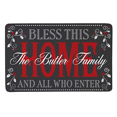Christmas Bless The Home Doormat-17x27