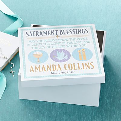 Sacrament Blessings Keepsake Box