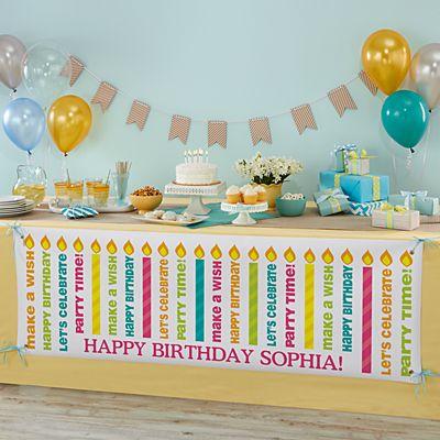 Make a Wish Birthday Banner