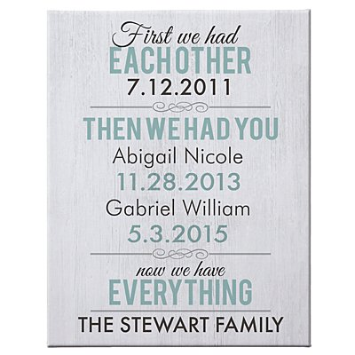 Now We Have Everything Canvas - 16x20-Unframed