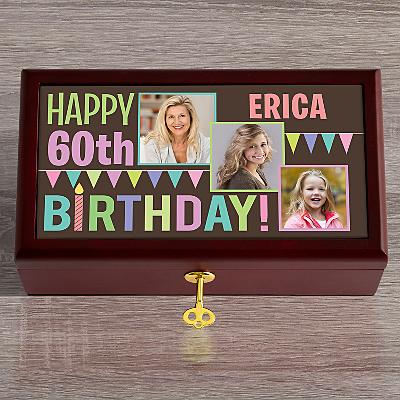Then & Now Photo Birthday Keepsake Box