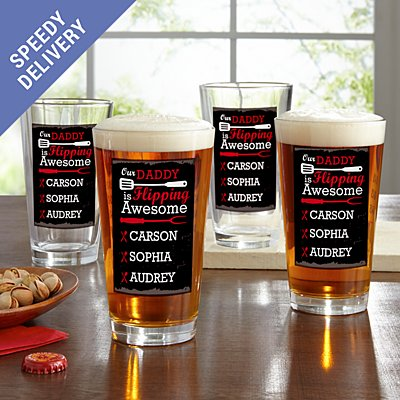 Flipping Awesome Pint Beer Glass