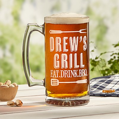 Grill Master Oversized Pint Glass