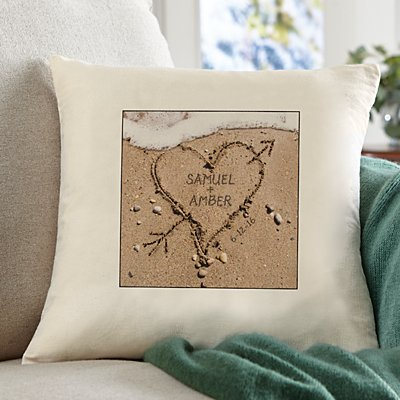 Heart in Sand Sofa Cushion