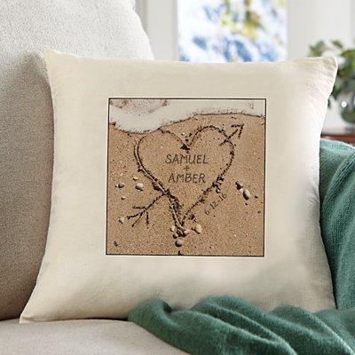 Heart in Sand Sofa Cushion