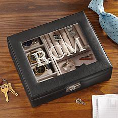 Leather Watch Box & Storage Valet