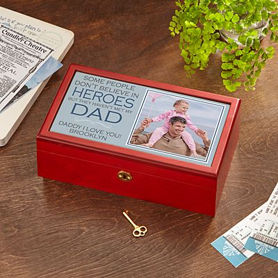 My Biggest Hero Photo Keepsake Box