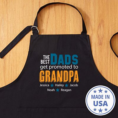 The Best Dads Get Promoted Apron