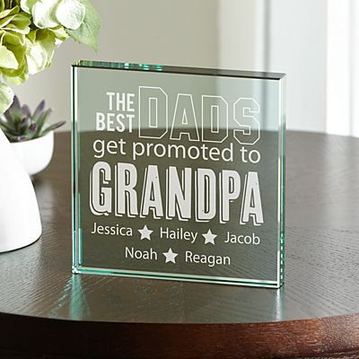 The Best Dads Get Promoted Keepsake Block