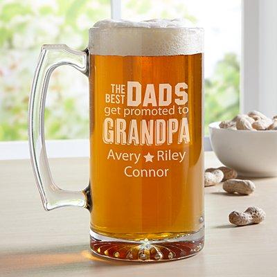 The Best Dads Get Promoted Oversized Beer Mug