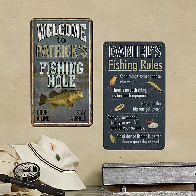 Gone Fishin' Metal Signs