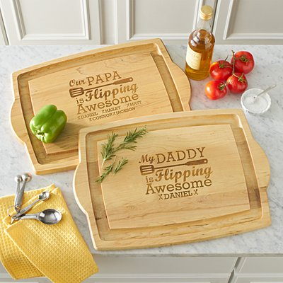 Flipping Awesome Oversized BBQ Chopping Board