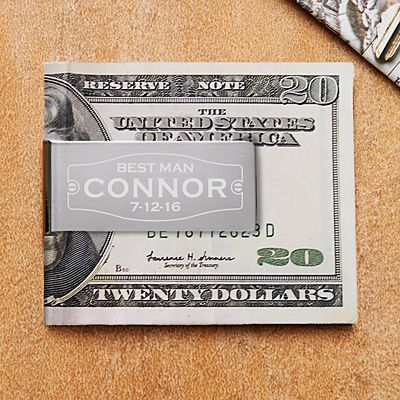 Wedding Party Money Clip