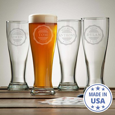 Wedding Party Pilsner Glass