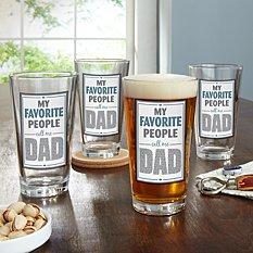My Favorite People Pint Beer Glass